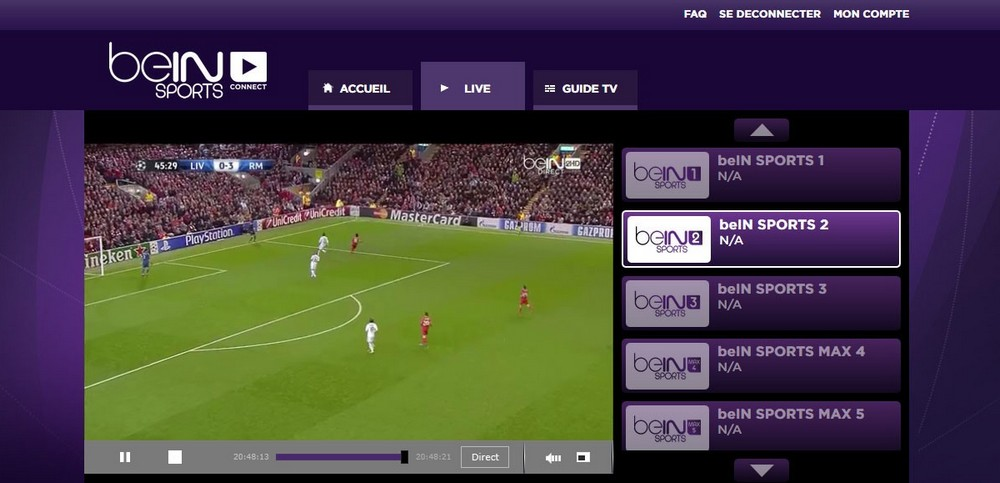 bein sport 2 live streaming hd bein sport 2 en direct sur pc. Black Bedroom Furniture Sets. Home Design Ideas