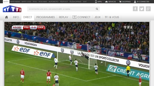 TF1 live streaming